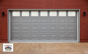 Bigstock Big Garage With Gray Doors